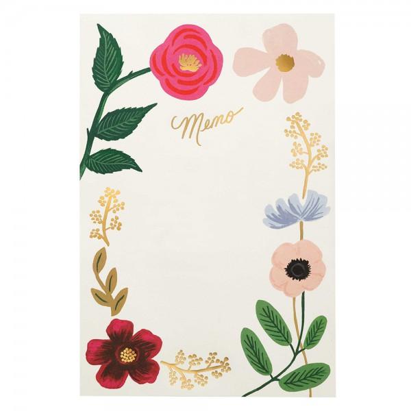 Large Memo Notepad Wildflowers
