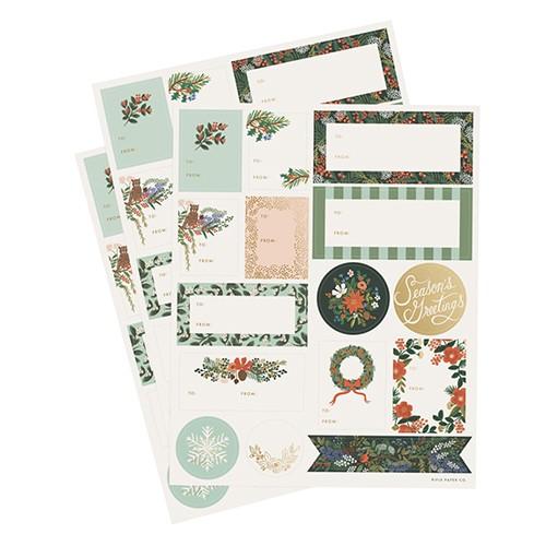 Sticker Set Winter Floral
