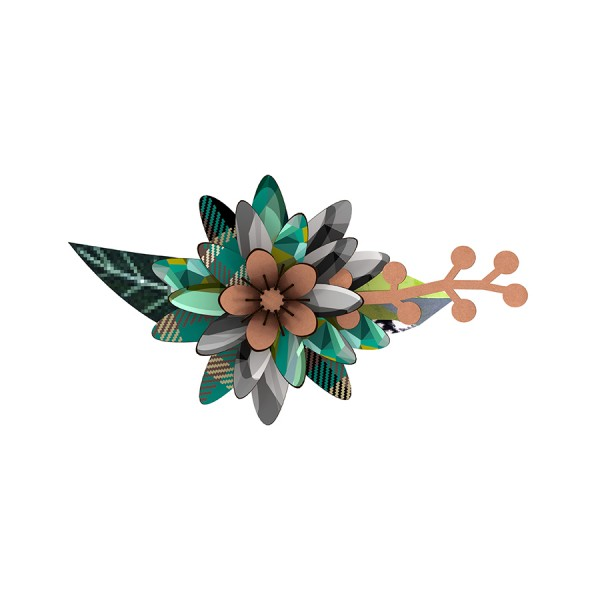 Deko-Blume Flower - Rhapsody in Blue als Wand- und Tischdeko